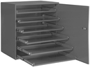 Durham 321B-95-DR Large Compartment Boxes, 6Lr Bearing Rack, W/Door