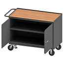 Durham 3412-TH-FL-95 Mobile Bench Cabinet with 6