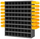 Durham 363LP-95 72 Opening Bin with Side Louvered Panels