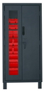 Durham 3702CXC-30B-1795 Access Control Cabinets with Hook-On Bins - 36 x 24 x 78 - Red