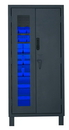 Durham 3702CXC-30B-5295 Access Control Cabinets with Hook-On Bins - 36 x 24 x 78 - Blue