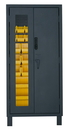 Durham 3702CXC-30B-95 Access Control Cabinets with Hook-On Bins - 36 x 24 x 78 - Yellow
