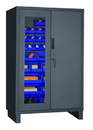 Durham 3703CXC-42B-5295 Access Control Cabinets with Hook-On Bins - 48 x 24 x 78 - Blue