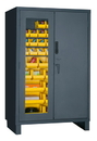 Durham 3703CXC-42B-95 Access Control Cabinets with Hook-On Bins - 48 x 24 x 78 - Yellow