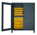 Durham 3704CXC-54B-95 Access Control Cabinets with Hook-On Bins - 60 x 24 x 78 - Yellow