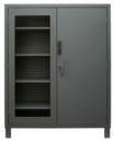 Durham 3704CXC-BLP4S-95 Access Control Cabinets with Shelves - 60 x 24 x 78