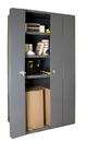 Durham 3951-3S-95 Heavy Duty 14 Gauge Cabinets Space Saving Bi-Fold Door Cabinets