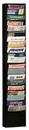 Durham 400-08 20 Pocket Durham Literature Rack (Black)