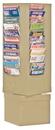 Durham 410-75 44 Pocket Rotary Durham Literature Rack (Tan)
