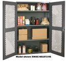 Durham EMDC-361860-95 Clearview Shelf Cabinets, 36X18X60, 3 Shelves