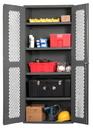 Durham EMDC-361884-95 Clearview Shelf Cabinets, 36X18X84, 4 Shelves