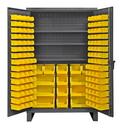 Durham HDC48-134-3S95 12 Gauge Cabinets with Hook-On Bins & Shelves, 24X48X78, 134 Bins
