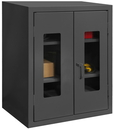 Durham HDCC243642-2S95 12 Gauge Clearview Cabinets with Lexan Doors, 24X36X42, 2 Shelves