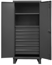 Durham HDCD243678-7B95 12 Gauge Cabinet with Drawers, 24X36X78, 2 Shelves