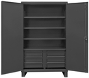 Durham HDCD247278-6B95 12 Gauge Cabinet with Drawers, 24X72X78, 4 Shelves