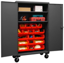 Durham HDCM48-18-2S1795 Mobile Cabinet with Hook-On Bins and Shelves