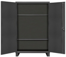 Durham HDCP304878-2S95 Heavy Duty Cabinet with 2 adjustable shelves, pad-lockable doors with pegboard panels, 3 point locking system and 6
