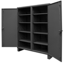 Durham HDDS246078-8S95 12 Gauge Double Shift Cabinets, 24X60X78, 8 Shelves