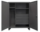 Durham HDWC246078-7M95 12 Gauge Wardrobe Cabinet with or without Drawers, 24X60X78, 2 Shelves