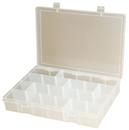 Durham LPADJ-CLEAR Adjustable Compartment Large Plastic Box