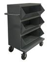Durham MSB3-2036-95 3 Opening Mobile Storage Bin