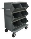 Durham MSB6-2036-95 6 Opening Mobile Storage Bin