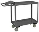 Durham OPC-1836-2-95 2 Shelf Order Picking Cart with writing surface & 1-1/2