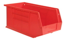 Durham PB30240-17 Hook-On Bins, 8W X 15L X 7H, Red