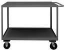 Durham RSC-3048-2-3K-TLD-95 2 Shelf Stock Cart with Ergonomic Handle-Top Shelf has Lips Down(Phenolic Casters)