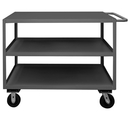 Durham RSC-3048-3-3K-TLD-95 3 Shelf Stock Carts(Top Lips Down & Phenolic Casters)