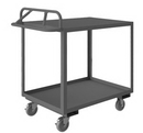 Durham RSCE-3048-2-TLD-95 Rolling Stock Cart with Ergonomic Handle-Top Shelf has Lips Down(Polyurethane Casters)