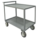 Durham RSCR-3048-95 2 Shelf Stock Cart with Raised Handle (All lips Up)