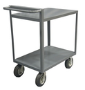 Durham RSCR-3048-ALD-95 2 Shelf Stock Cart with Raised Handle (All lips down)