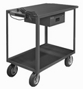 Durham RSIC-2436-2-8PN-95 2 Shelf Instrument Cart with Drawer and Electrical Strip (Pneumatic Caster)