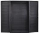Durham SJC-BDLP-95 Heavy Duty Customizable Cabinet, no bins or shelves, deep door style, gray