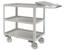 Durham SOPC1618303ALU5PU Stainless Order Picking Cart with 5