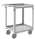 Durham SRSC2016302FLD4PU Stainless Steel Stock Cart with (4) 4 x 1-1/4