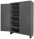 Durham SSC-602484-5S-95 Heavy Duty Cabinet, 1 fixed shelf and 5 adjustable shelves, recessed door style, gray