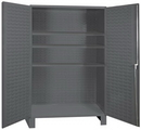 Durham SSC-602484-BDLP-3S-95 Heavy Duty Cabinet, 1 fixed shelf and 3 adjustable shelves, recessed door style, gray