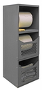 Durham VSCSP-242472-2-95 Spill Control Cabinet comprised of 16 gauge, all welded steel construction with 3 shelves and 2 front covers to retain supplies