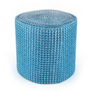 Aspire Blue Diamond Rhinestone Mesh Ribbon, Wedding Ribbon, 4.75