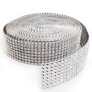 Aspire Silver Diamond Mesh Wrap Roll Rhinestone Crystal Ribbon 1.5