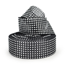 Aspire Black And White Diamond Mesh Wrap Roll Rhinestone Crystal Ribbon 1.5