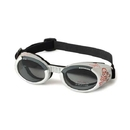 Doggles - Ils Small Silver Skull Frame / Smoke Lens