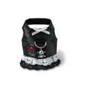 Doggles Harness Dress - Biker - Black - Teacup