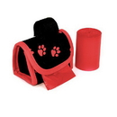 Doggie Walk Bags B-80626 Designer Bags - Red Paw - Red/Floral - 2 Rolls