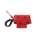 Doggie Walk Bags B-DD1-REDPAW Designer Duffle - Red Paw - Red/Floral - 1 Roll