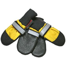 Muttluks AWSY All Weather Muttluks Leather Sole and Toe Dog Boots Set of 4 - Yellow , Small 2.75