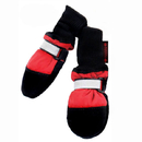 Muttluks FLXLR Fleece Lined Muttluks Dog Boots Set of 4 - Red, X Large 4.25