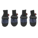 Muttluks Woof Walkers Dog Boots Set of Four - Blue, Large 3.75